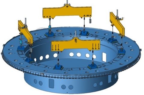 1250 tons cryostat handling system (c) CNIM