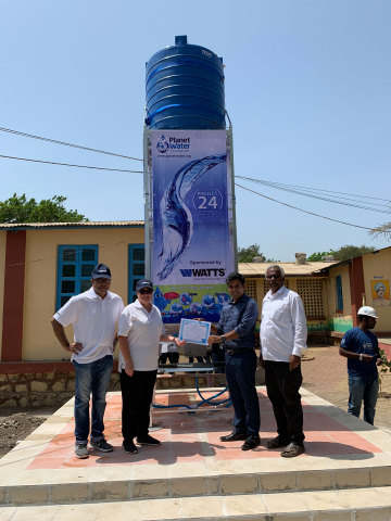 Watts first joined forces with Planet Water in 2016. Since that time, the organizations have brought clean water to 13,000 people in Cambodia, China, Colombia, India, Indonesia, the Philippines, and Puerto Rico. (Photo: Business Wire)