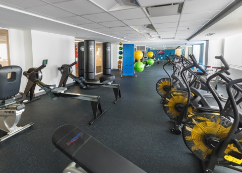Fitness room, Howard Towers West, Howard University (Photo: Business Wire)