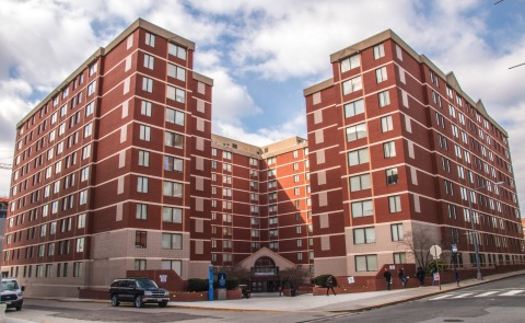 Exterior, Howard Towers West, Howard University (Photo: Business Wire)