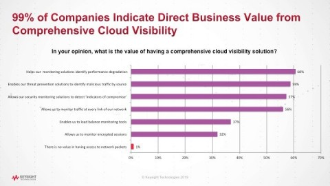 Nearly all respondents (99 percent) identified a direct link between comprehensive network visibility and business value. (Graphic: Business Wire)