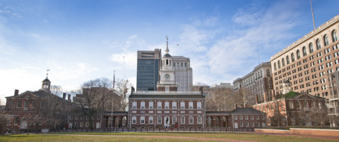 Independence Hall, the centerpiece of Philadelphia's Independence National Historical Park. The Natl ...