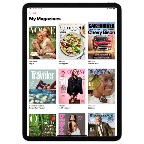 Available today, Apple News+ brings together over 300 popular magazines, leading newspapers and digi ...