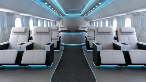 Astronics is introducing its new Nuancia strip lighting for ambient aircraft cabin lighting. (Photo: ...