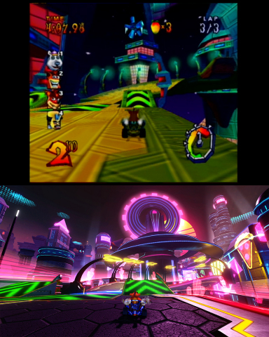 Crash™ Team Racing Nitro-Fueled, the new kart racing videogame from Beenox, is now adding even more racing fun with the addition of remastered content from the original Crash™ Nitro Kart (CNK). The bonus CNK content will include all thirteen of that game's original tracks -- adapted to match the original CTR experience. (Graphic: Business Wire)