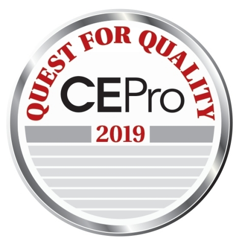 Control4 - CE Pro Quest for Quality Awards 2019 (Graphic: Business Wire)