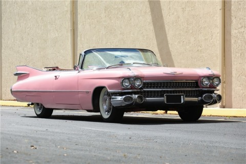 This 1959 Cadillac Series 62 Convertible form the World of Classics Collection is just one of more than 500 iconic vehicles up for bid via Proxibid in the Barrett-Jackson 17th Annual Palm Beach Auction April 11-13. (Photo: Business Wire)