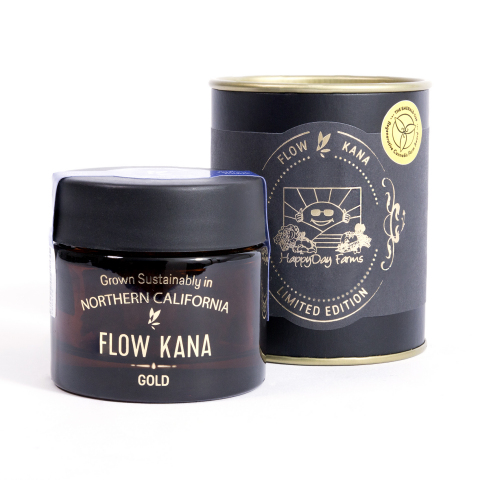The Flow Kana Limited Edition is an ongoing series of California's finest sungrown, micro-batch, special releases highlighting select farms & cultivars in limited quantities, exclusively available at select retailers. First release includes special selection from Regenerative Farm Award recipients like HappyDay Farms from Mendocino County. (Photo: Business Wire)