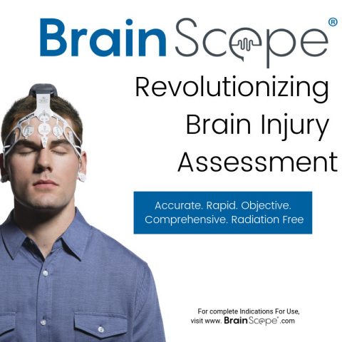 BrainScope®, a medical neuro-technology company focused on concussion and mild traumatic brain injury (mTBI) assessment. (Photo: Business Wire)
