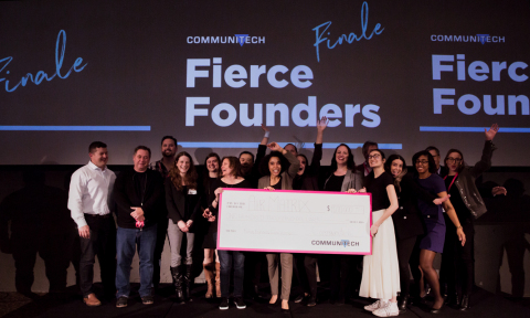 Communitech awarded Toronto-based startup AirMatrix $100,000 at the Fierce Founders Bootcamp Finale Wednesday. (Photo: Business Wire)