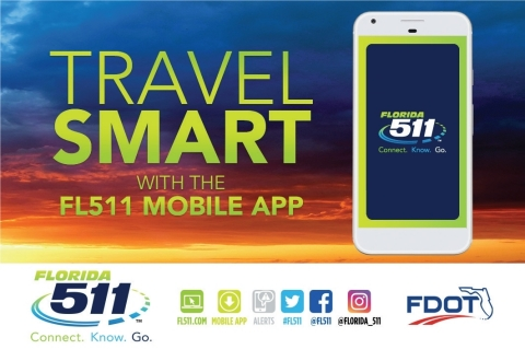 FL511 Mobile App to Connect.Know.Go. (Graphic: Business Wire)