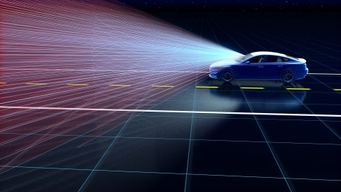 Designed for seamless vehicle integration, Velodyne Velarray™ generates a richly-detailed directional image, day or night. (Photo: Business Wire)