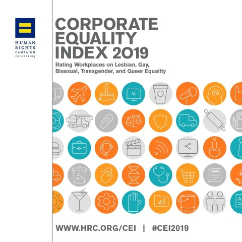 PPG received a high score of 90 percent on the Human Rights Campaign (HRC) Foundation's 2019 Corporate Equality Index (CEI), a national benchmarking survey and report on corporate policies and practices related to lesbian, gay, bisexual, transgender and queer (LGBTQ) workplace equality. (Graphic: Business Wire)