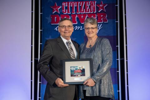 Kenn & Beth Zelten, TravelCenters of America 2019 Citizen Driver honorees. (Photo: Business Wire)