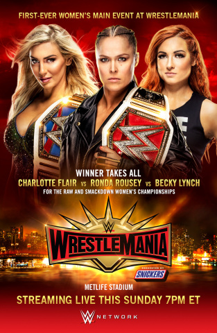 """Winner Takes All"" at First-Ever Women's Main Event of WrestleMania® (Photo: Business Wire)"