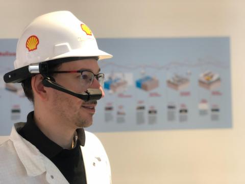 Shell sees wearable technology like RealWear as ushering in a new era of computing for industrial frontline workers. (Photo: Business Wire)