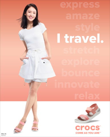 Chinese actress, dancer and model Gina Jin wears the LiteRide Sandal. (Photo: Business Wire)