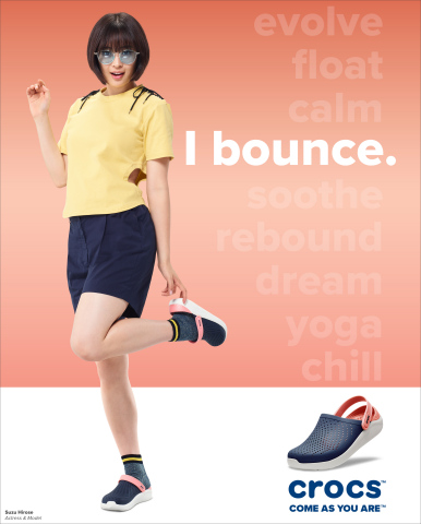 Japanese actress and model Suzu Hirose wears the LiteRide Clog. (Photo: Business Wire)