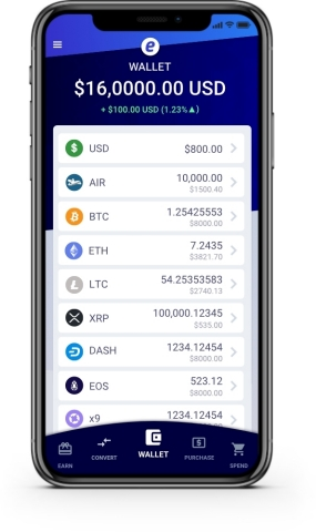 Einstein Exchange's new cryptocurrency mobile wallet, designed for simplicity and ease of use, avail ...