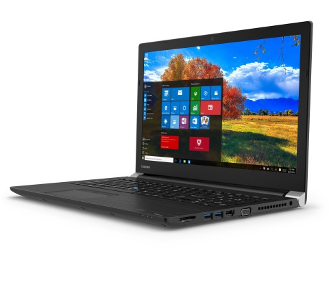 The Tecra® A50-EC is a full performance business laptop now with a USB-C Port and biometrics face recognition camera options to enhance connectivity, productivity and system security. (Photo: Business Wire)