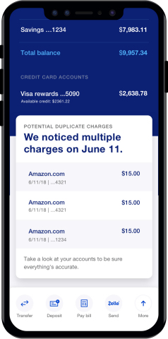 The new U.S. Bank mobile app saves customers time and money by notifying them when potential duplicate charges have been made, when recurring payments have changed, reminding them of upcoming payments due and helping them track their cashflow and spending habits. (Photo: Business Wire)