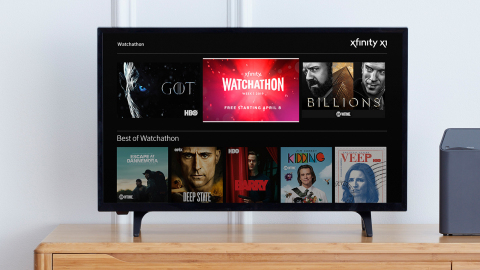 Comcast today announced the seventh annual Xfinity Watchathon Week from April 8 - 14. (Photo: Business Wire)