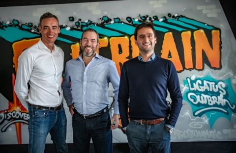 Julien Mosse Managing Director Southern Europe at Outbrain, Yaron Galai Co-Founder and CEO at Outbrain, François-Xavier Préaut Managing Director France at Outbrain. (Photo: Business Wire)