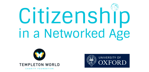 Supported by Templeton World Charity Foundation, Andrew Briggs and Dominic Burbidge (University of Oxford) will lead a new project on citizenship in a networked age. (Graphic: Business Wire)