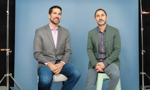 Brian Whipple (left), global CEO, Accenture Interactive and David Droga (right), founder & creative ...