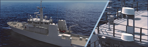 AeroVironment's 360 Multi-Sector Antenna provides continuous 360-degree long-range command & control between naval operators and Puma AE UAS for maritime applications. (Photo: Business Wire)