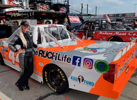 NASCAR's Angela Ruch Announces The #OneMillionFollowerChallenge Enter-to-Win a Weekend Hanging with Top Female NASCAR Driver at June 28, 2019 Chicago Speedway. (Photo: Business Wire)