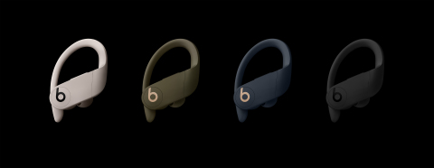 Powerbeats Pro comes in 4 colors: Ivory, Moss, Navy and Black (Photo: Business Wire)