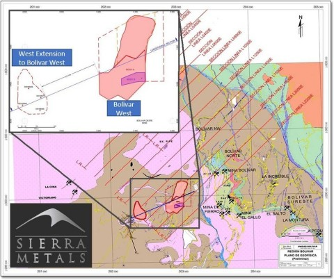 Figure 1 - Geological map of the Bolivar Mine. (Graphic: Business Wire)
