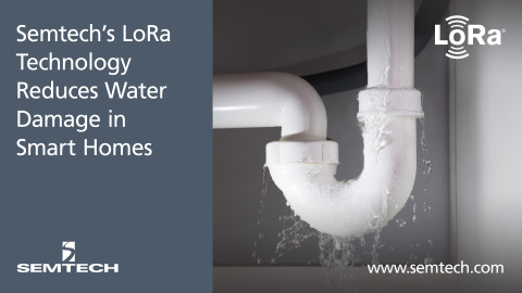 Semtech's LoRa® Technology Reduces Water Damage in Smart Homes (Graphic: Business Wire)