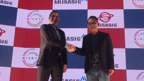 Israeli technology pioneer Ran Poliakine and Musashi President and CEO Hiroshi Otsuka announce the formation of Musashi AI to bring Industry 4.0 into reality in months versus the industry's prediction of years. (Photo: Business Wire)