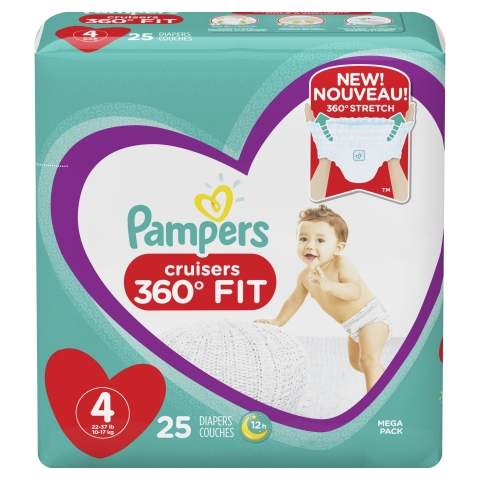 Pampers Cruisers 360 FIT diapers feature no-tapes and a comfortable all-around stretchy waistband specifically designed to adapt to every wild move a baby makes – it's just like they're wearing yoga pants. (Photo: Business Wire)
