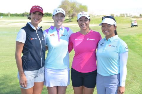 Team Kronos LPGA Golfers (L to R): Jaye Marie Green, Brittany Altomare, Marina Alex, and Megan Khang ...