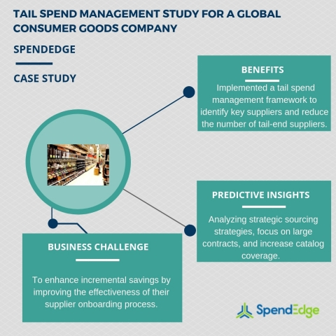 Tail spend management study for a global consumer goods company. (Graphic: Business Wire)