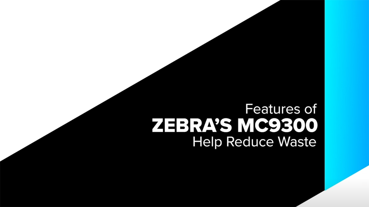 Lynsert Walcolm, product manager for Zebra's MC9300, discusses how the product helps reduce waste.