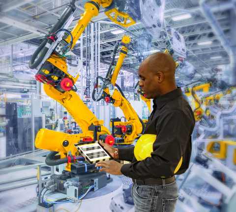 Experience FANUC's Award-Winning Zero Down Time in Augmented Reality at Automate 2019 (Photo: Busine ...