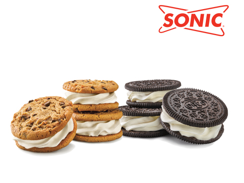 SONIC's Ice Cream Cookie Sandwiches are available now in two varieties at participating drive-ins for a limited time for $1.49* after 8 p.m. and $1.99 throughout the day. (Photo: Business Wire)