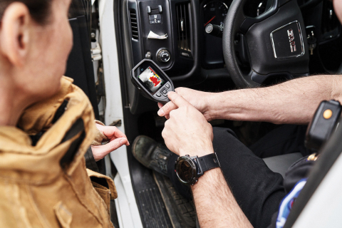 The new FLIR K1 thermal camera is FLIR's most affordable camera for first responders. (Photo: Busine ...