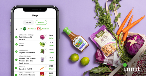 Innit becomes the first platform to fully automate every step of the meal journey by making its personalized and modular recipes shoppable. (Photo: Business Wire)