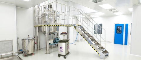 Xenex LightStrike robots are now being used to decontaminate and disinfect cleanrooms in pharmaceutical facilities in the U.S. and Europe. (Photo: Business Wire)
