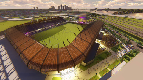 Louisville City Football Club has selected AEG Facilities, the world's leading sports, venue and live entertainment company, as venue manager for its new stadium set to open in spring 2020 in the Butchertown neighborhood of Louisville. (Graphic: Business Wire)