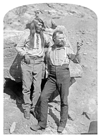 """Photograph of Taw-gu, Great Chief of the Paiutes, with John Wesley Powell, as featured in the new book """"The People: The Missing Piece of John Wesley Powell's Expedition."""" (Photo: Business Wire)"""