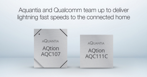 Aquantia and Qualcomm team up to deliver lightning fast speeds to the connected home (Photo: Business Wire)