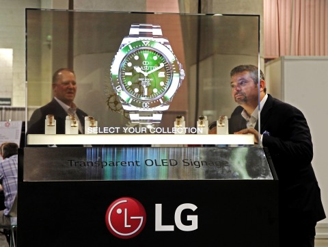 At the 2019 NAB Show, LG Electronics previewed its amazing Transparent OLED display. (Photo: Business Wire)