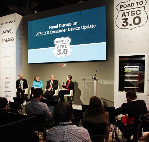 The LG Direct View LED display was the centerpiece of the Advanced Television Systems Committee's Presentation Stage at the 2019 NAB Show. (Photo: Business Wire)