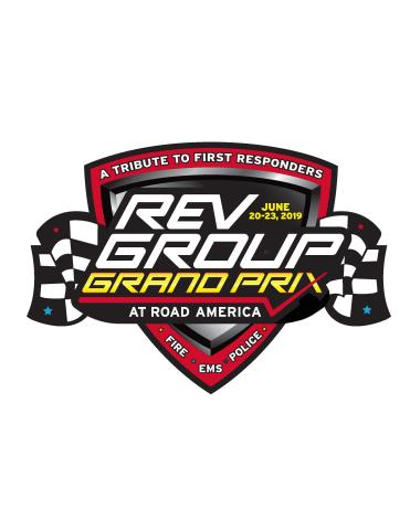 The inaugural NTT IndyCar series REV Group Grand Prix at Road America will be a tribute to First Responders. (Graphic: Business Wire)